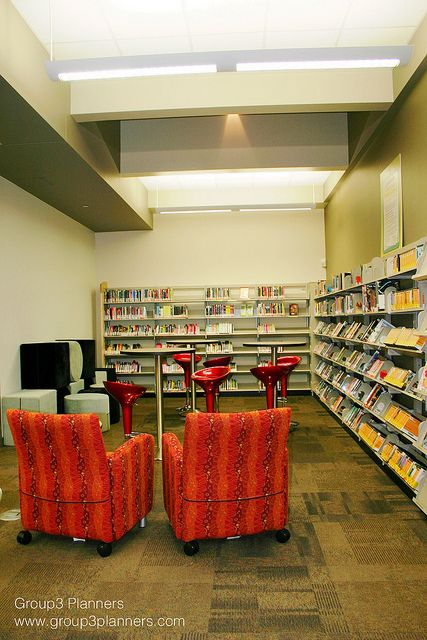 Teen Library | Flickr - Photo Sharing! have bviously different furniture to define the space