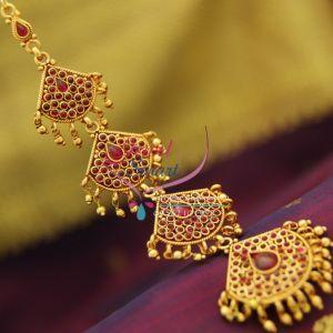 south-indian-traditional-temple-kempu-mang-tikka-grand-wedding-bridal-jewellery-online