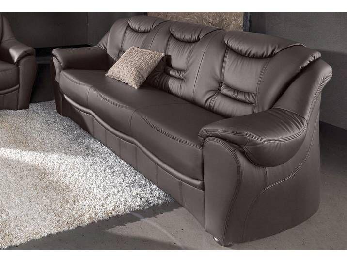 Sit More 3 Sitzer Braun Luxus Kunstleder Sofa Furniture Couch