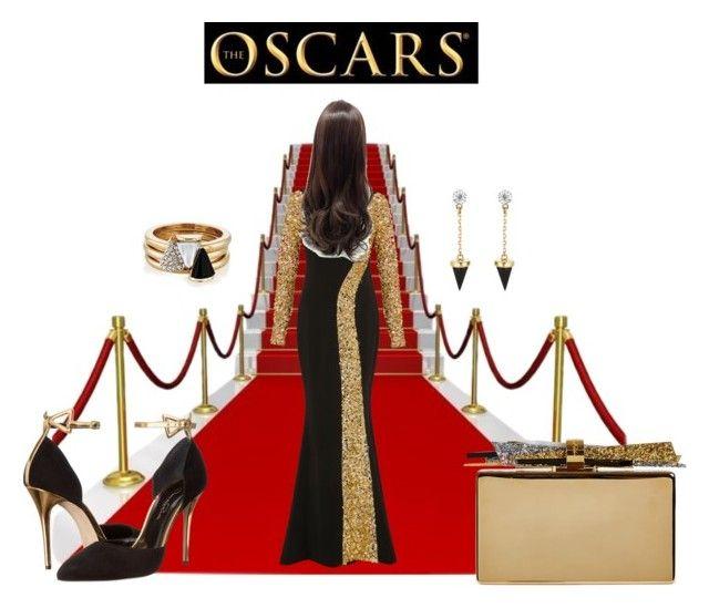 The Oscars by airrazor23 on Polyvore featuring polyvore fashion style Elizabeth Kennedy Oscar de la Renta Edie Parker Brixton clothing RedCarpet