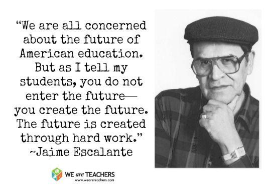 "Jaime Escalante - ""We are all concerned about the future ... Jaime Escalante Quotes"