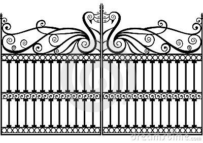 Wrought iron fence or gate vector eps by Rsinha, via Dreamstime