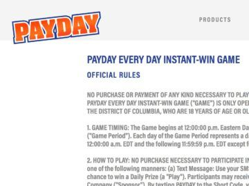 PayDay Everyday Instant Win Game