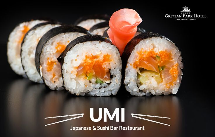We make the best sushi in Cyprus... that's just how we roll! Reservations at umi@grecianpark.com #GrecianPark #hotel #UMI #Japanese #Sushi #Bar #Restaurant #SushiTime #SushiLovers #Food #Foodies