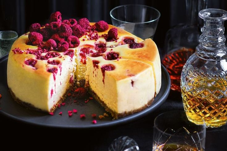 "Introducing the baked white chocolate and raspberry cheesecake. ""I have kept this recipe since my days as an apprentice at the Grand Hyatt Melbourne. It was in fact the speciality of the hotel,"" says Shannon."