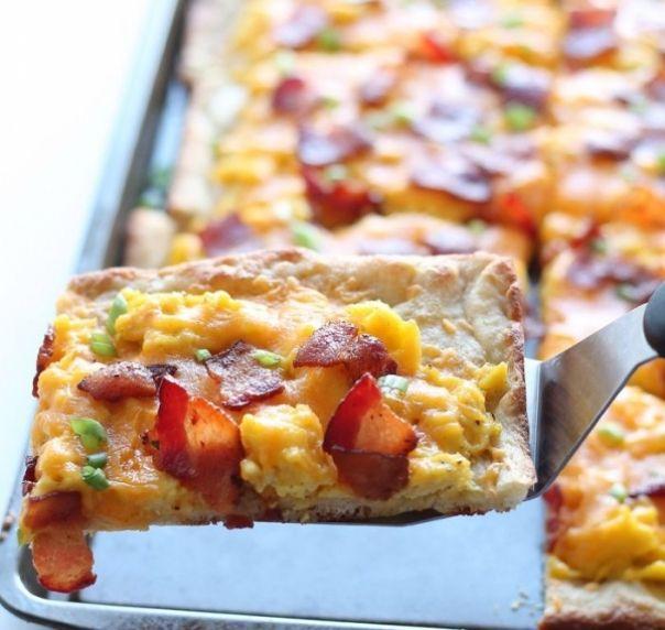 Pizza rapida pentru micul dejun