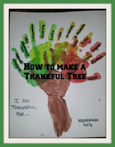 I am Thankful for.... handprint craft for kids of all ages. #Thanksgiving #craft