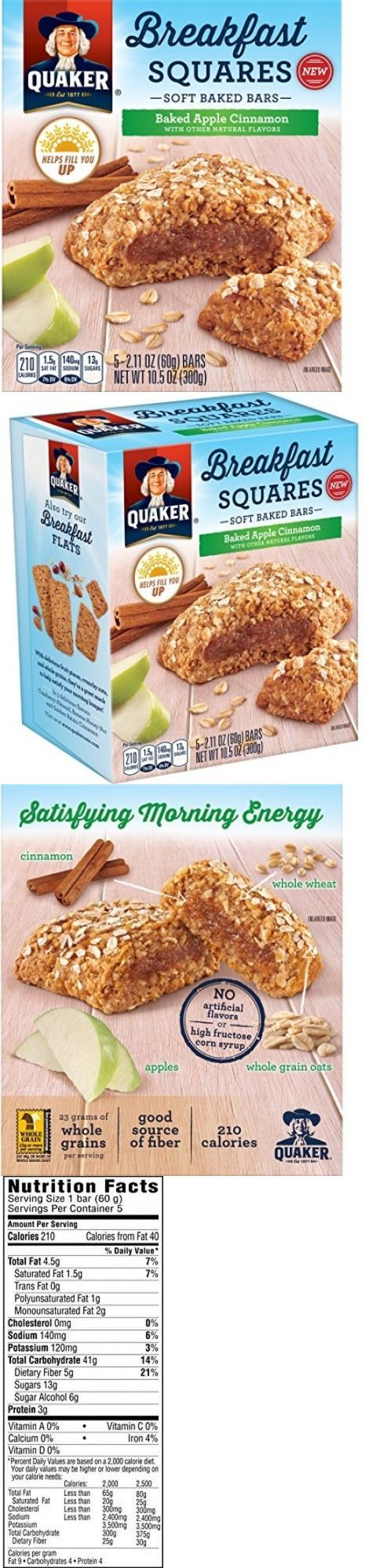 Cereals and Breakfast Foods 62717: Quaker Breakfast Squares, Soft Baked Bars, Apple Cinnamon, 5 Bars (Pack Of 8) -> BUY IT NOW ONLY: $30.52 on eBay!