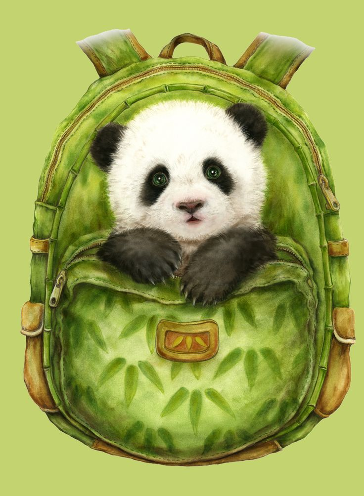 BACKPACK PANDA BY KAYOMI HARAI VISIT OUR WEBSITE www.lailas.com for more great images