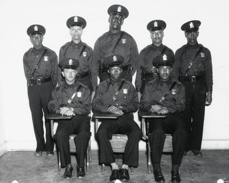 """In 1948, Atlanta hired it's first eight African American police officers. They were """"police officers"""" but they could not drive squad cars, step foot in police headquarters, or arrest white citizens."""