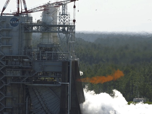 Records for Engine Testing  As Olympic athletes converge on London with dreams of winning gold in the 2012 Summer Olympic Games, NASA is also setting records while testing the J-2X powerpack at the Stennis Space Center. The first time was June 8, when engineers went the distance and set the Test Complex A record with a 1,150-second firing of the developmental powerpack assembly.