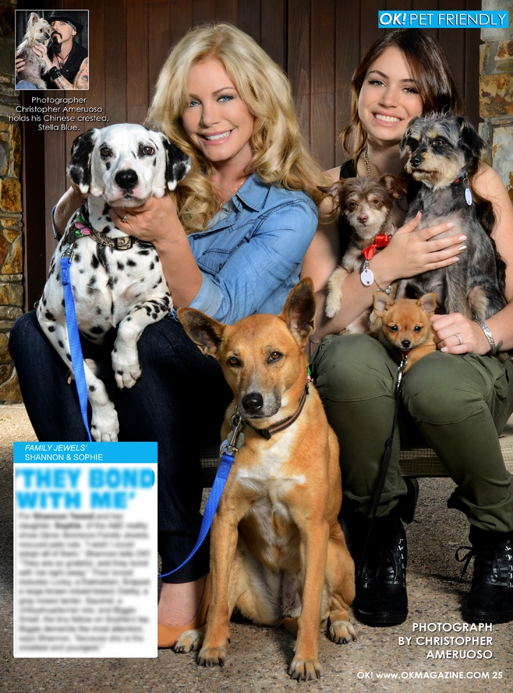 This week in my OK! Pets feature in OK! magazine check out Shannon Tweed and Sophie Simmons and their brood of rescues. The Simmons family really opens their door for these creatures in need. Pick up a copy today on stands !