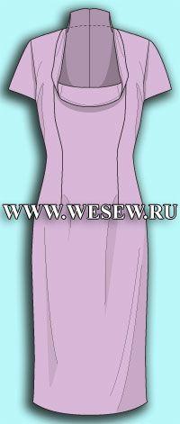 Выкройка платья с коротким рукавом для женщин с обхватом груди от 100 см до 122 см. Готовая выкройка.