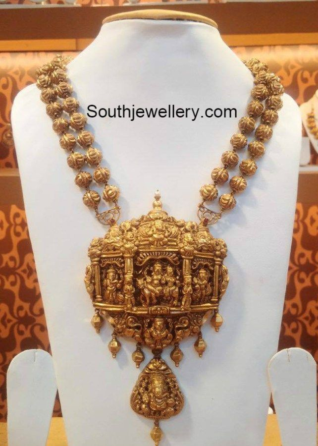 Temple Jewelry Designs Jewellery Gold Temple