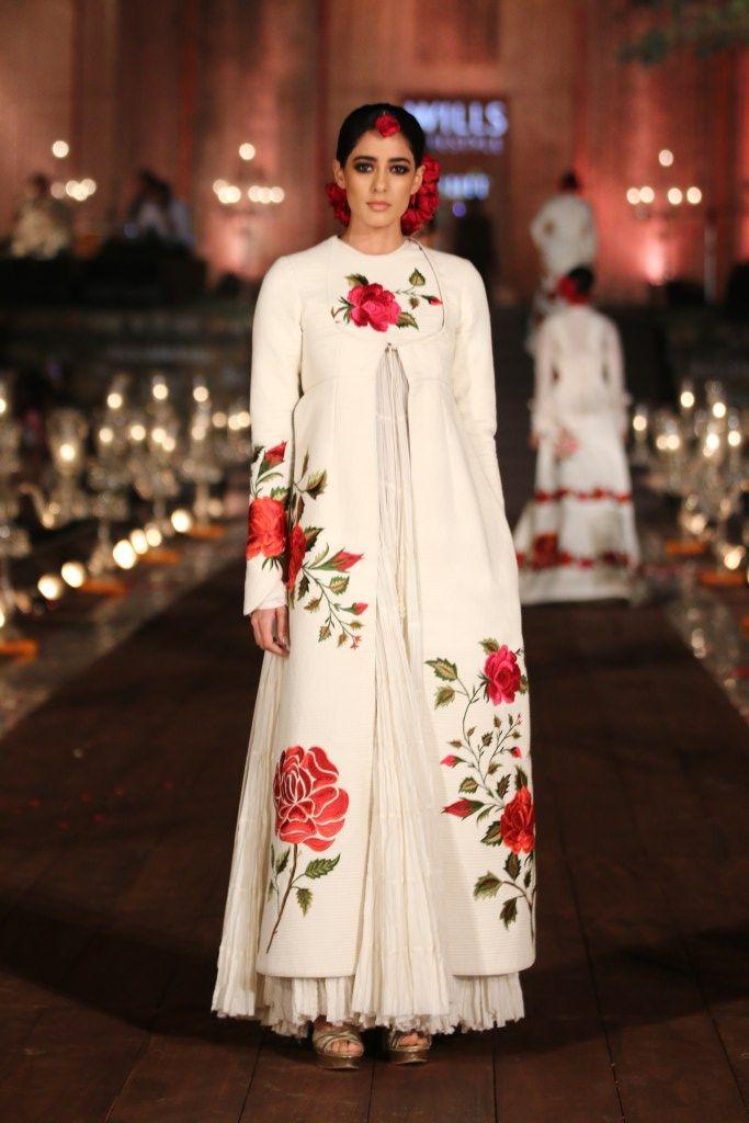 1000 Ideas About Rohit Bal On Pinterest White Anarkali