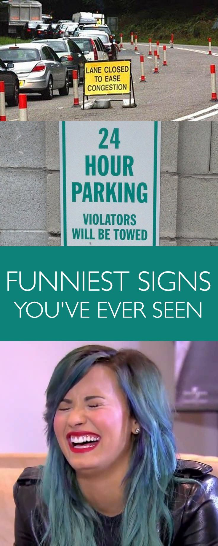 Do you want to have a giggle? Look at these funny signs and you will have a barrel of laughs!