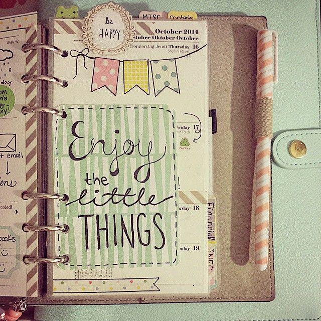 Enjoy the little things.   Cute Filofax