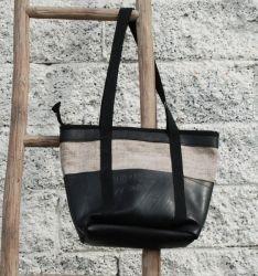 Skulderveske av resirkulert dekk / bag made of used tyres