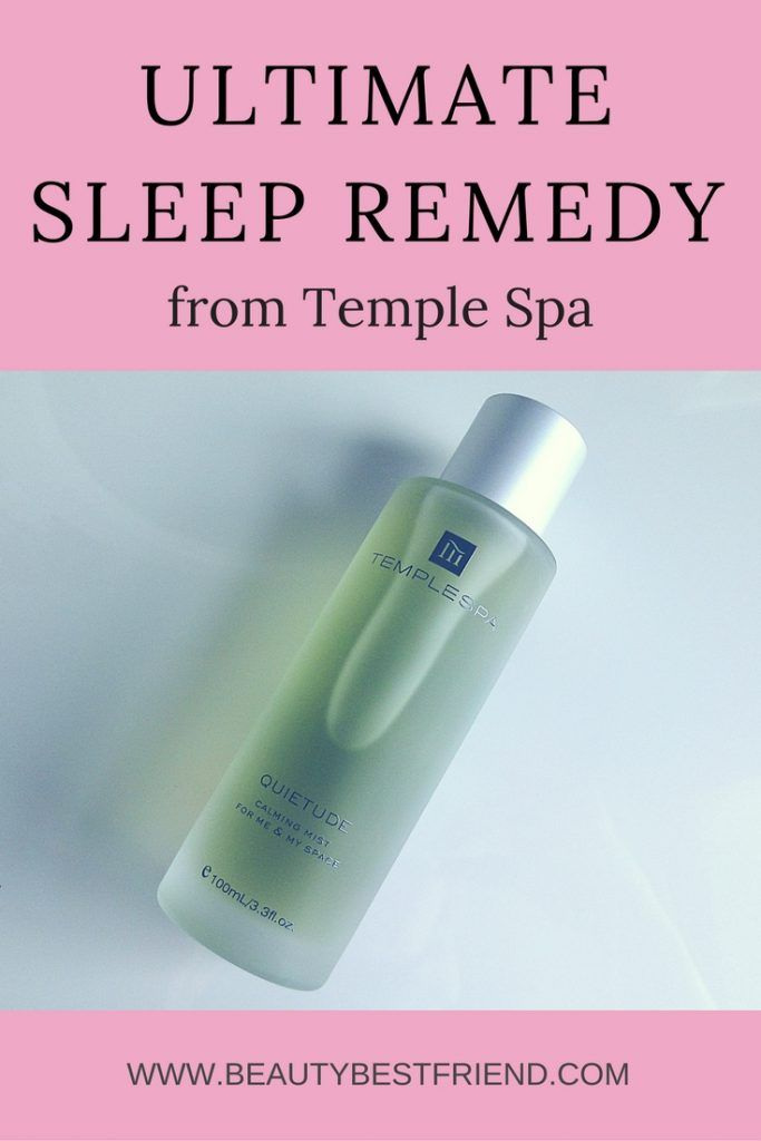 Having trouble sleeping?  My favourite sleep remedy is Quietude from Temple Spa, it helps me fall asleep every single time.  Check out my review and find out if Quietude could work for you!  Sleep remedy | Insomnia remedy | Sleep cure | Insomnia cure | Temple Spa Quietude | Pillow mist | Pillow spray | Room spray | Body spray