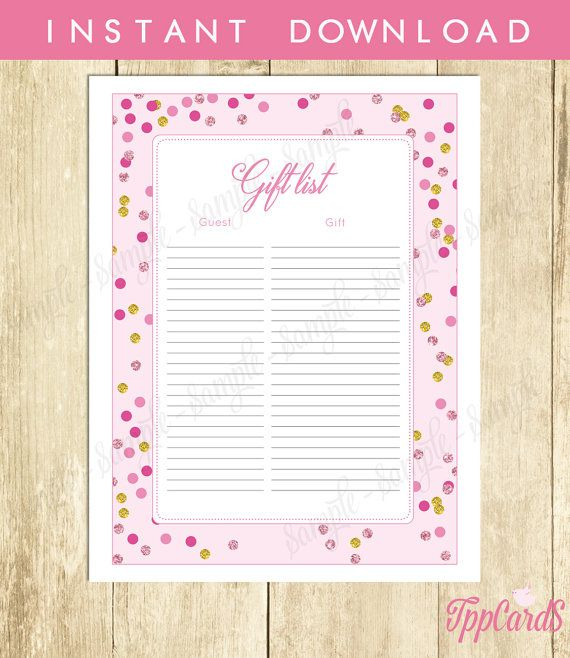 Best 25+ Baby shower gift list ideas on Pinterest Baby planning - free printable baby shower guest list
