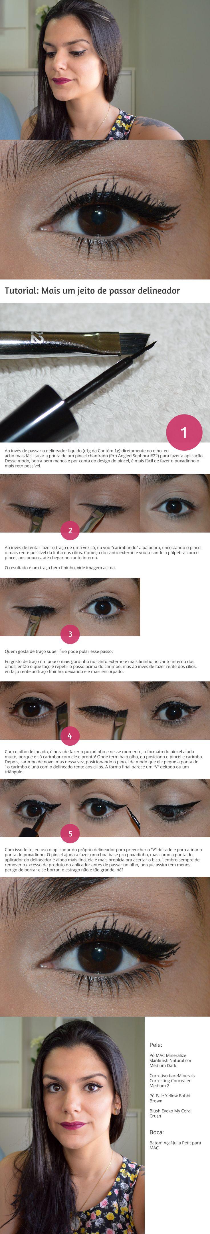 Tutorial: Mais um jeito de passar delineador http://www.2beauty.com.br/blog/2015/03/20/tutorial-mais-um-jeito-de-passar-delineador/ #tutorial #delineado