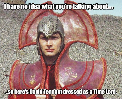 lost moon of poosh  Nerd Wars  I have no idea what you're talking about  so here's  David Tennant 10 TH Dr Who  dressed a as time lord ~~~ Citadel of the Time Lords on Gallifrey   http://ravnerdwars.info/2011/01/hello-sweetie/