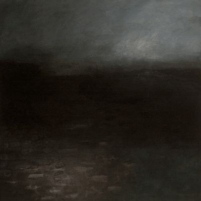 Moonrise. 150cm x 150cm Oil and Graphite on Belgian Linen. / by Helen Booth