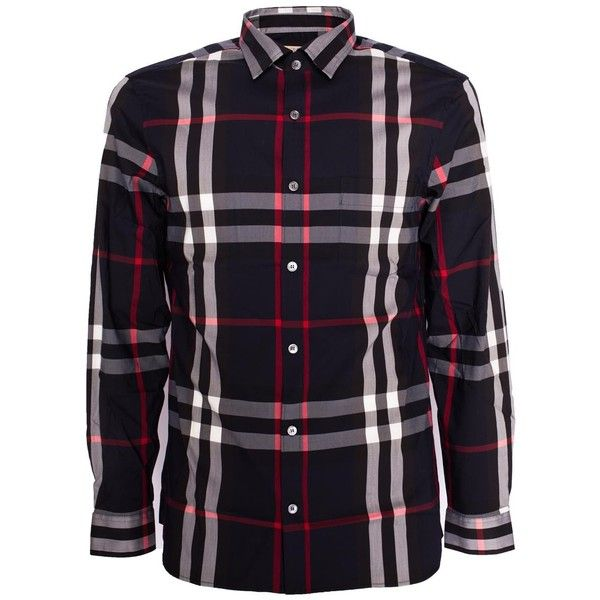 Burberry Shirts ($260) ❤ liked on Polyvore featuring men's fashion, men's clothing, men's shirts, men's casual shirts, navy, old navy mens shirts, mens cotton shirts, mens navy blue shirt and burberry mens shirts