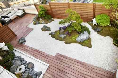 jardin urbain et déco de style zen