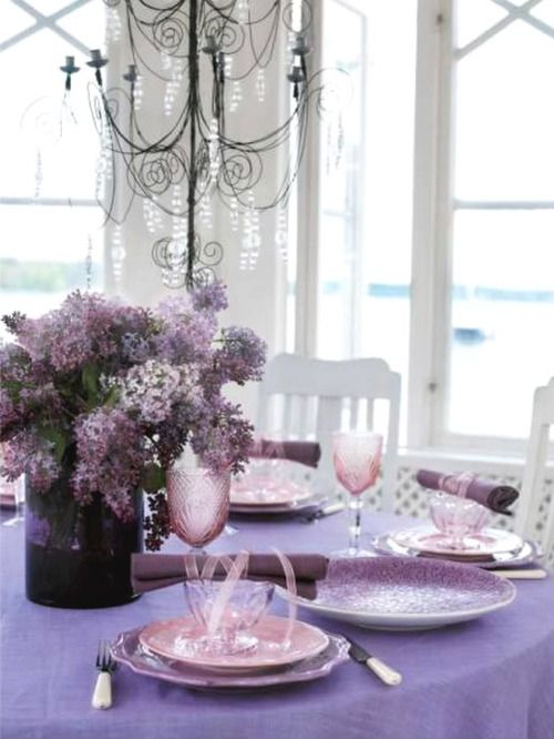 Time To Smell The Lilacs... Lilac table setting (1) From: Bella Faye Garden, please visit