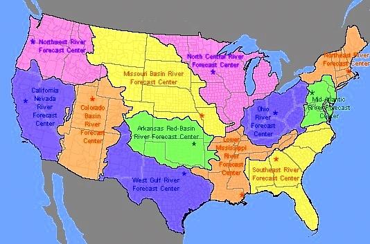 US River Basins Longest US Rivers Pinterest Rivers - Us river basin map
