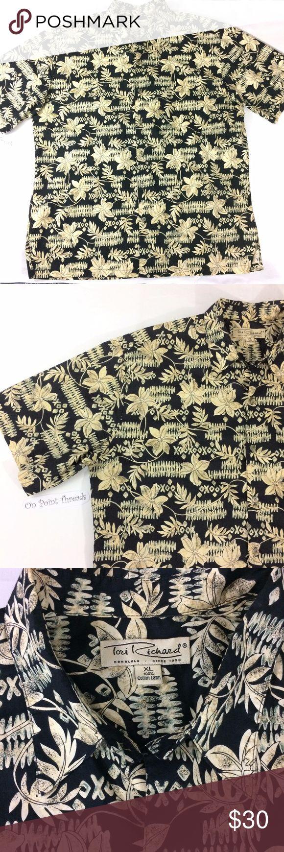 Tori Richards  Hawaiian print Shirt Mens XL fun printed Hawaiian shirt in size xl by tori richards Tori Richards Shirts Casual Button Down Shirts