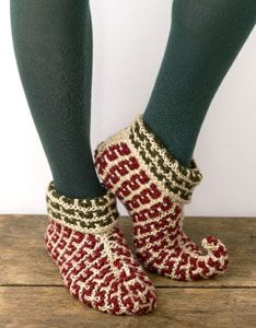 These fantastic Elf Slippers are a Free Pattern and available as a Knitted or Crochet version.