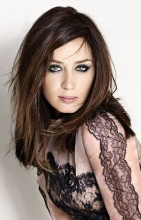 Emily Blunt-- love her eyes in this photo.                                                                                                                                                                                 More