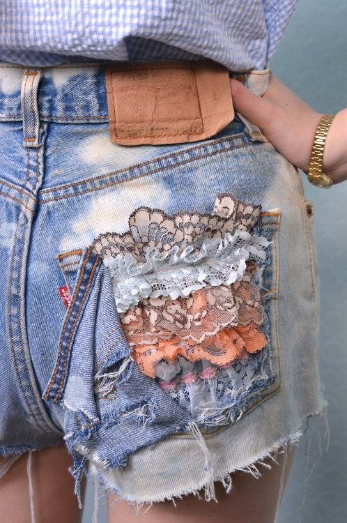 customised denim levis shorts  get your with us! contact us at info@ellascloset.co.uk
