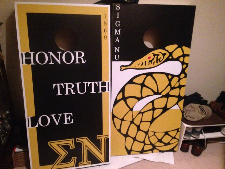 Makes amazing gifts for everyone! Just check out these great corn hole boards we did for Sigma Nu fraternity! Place your orders today! Check out www.facebook.com/fishscustoms for more information.