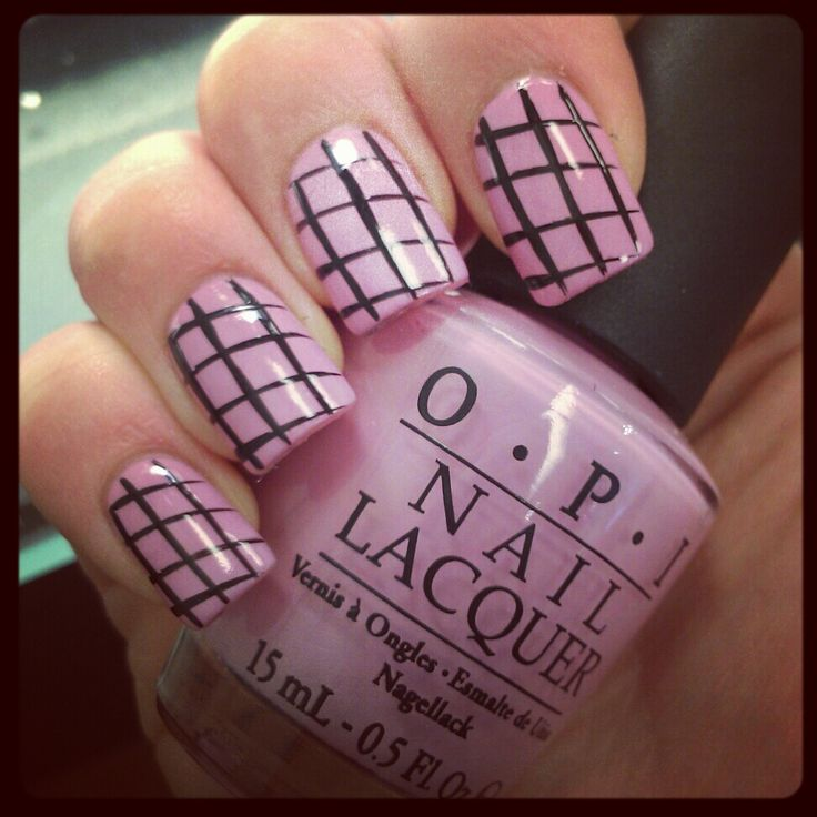 Striped pink nails OPI 54 best nail