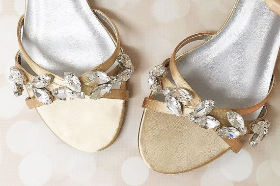 Gold Wedding Shoes Wedding Shoes Bridal by EllieWrenWeddingShoe