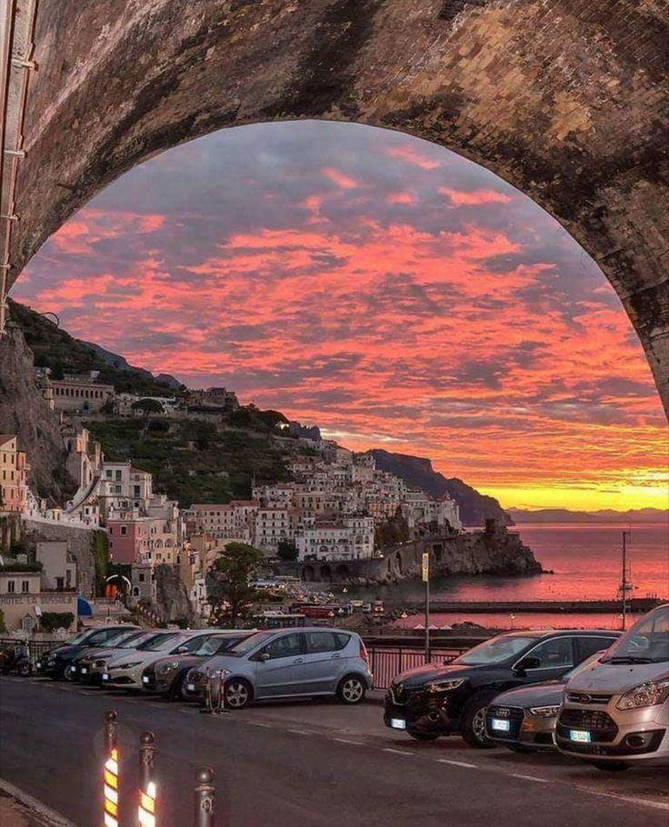 Sunset in Amalfu. Italy