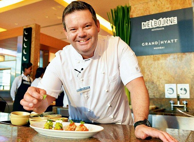 Masterchef Australia co-host Gary Mehigan in his element at a master class for journalists