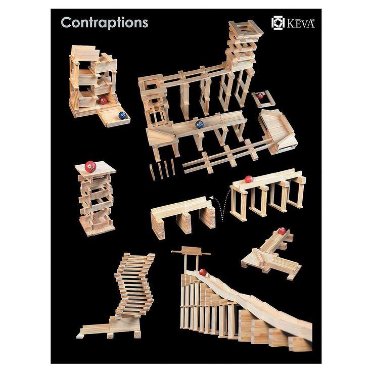 KEVA Contraptions: Set of 2 instructions