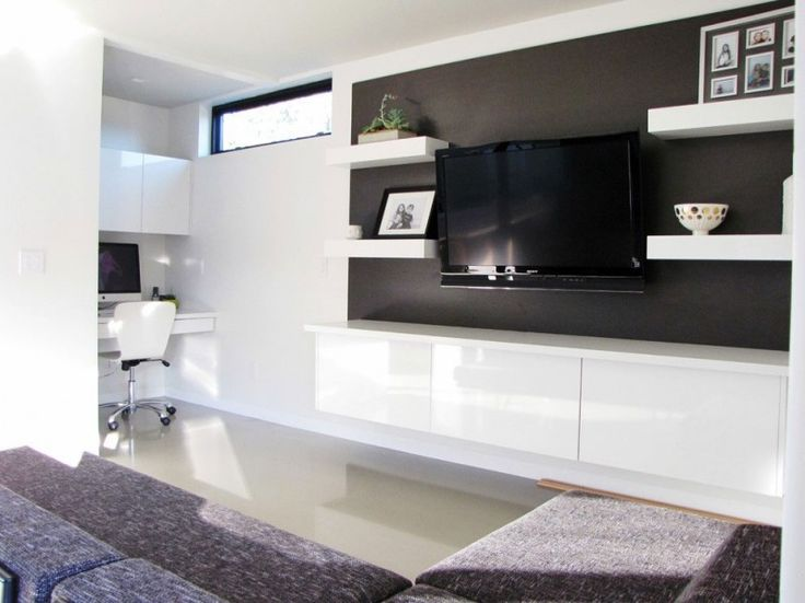 20 Ways To Incorporate Wall-mounted TVs and Shelves Into Your Decor#more-217622#more-217622