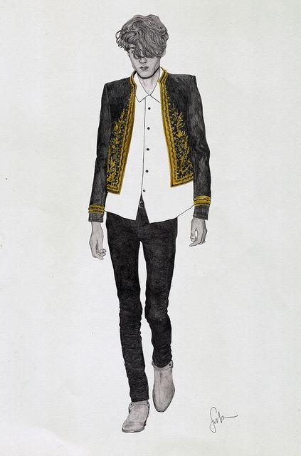 Saint Laurent Paris - fashion illustration by Gaston John Sevilla