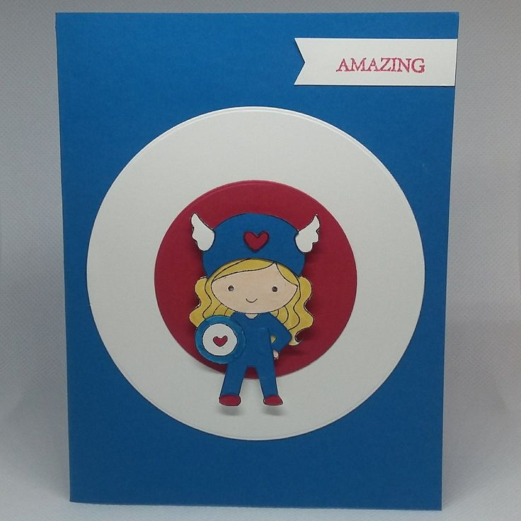 Excited to share the latest addition to my #etsy shop: Captian America Girl http://etsy.me/2toVZwU #cutecrystalcreations #captainamericacard #captianamericagirl
