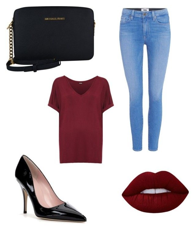 Senza titolo #2 by cecilia-alessia-lattuada on Polyvore featuring polyvore, fashion, style, WearAll, Paige Denim, Kate Spade, MICHAEL Michael Kors, Lime Crime and clothing