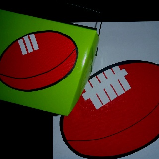 Football birthday party invitations and lolly boxes Weddingspa@yahoo.com.au