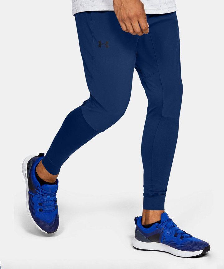 Under Armour Men S Sweatpants American American Blue Hybrid Pants Men In 2020