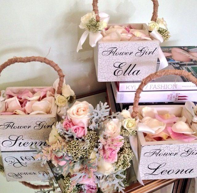 Vintage Flower Girl Baskets