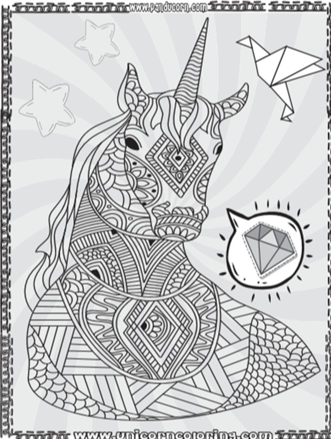 Cute Cartoon Unicorn Coloring Pages Unicorns are a ...