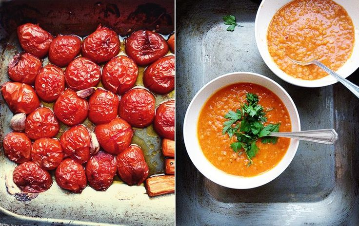 My most favourite soup ever. Spicy red lentil and roasted tomato. #EatNourishGlow